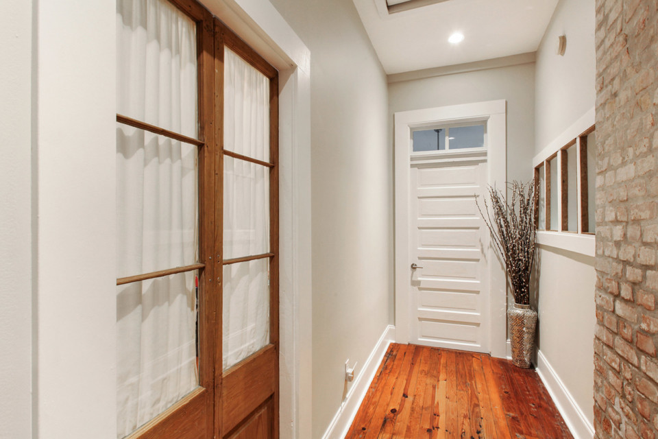 French Doors to Bathroom
